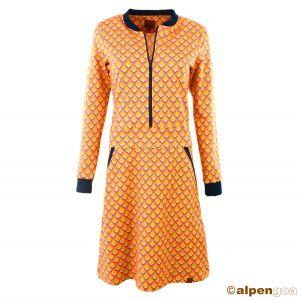 Kleid Alessa Muster orange